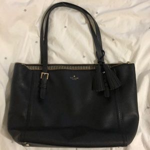 Kate Spade black large work tote